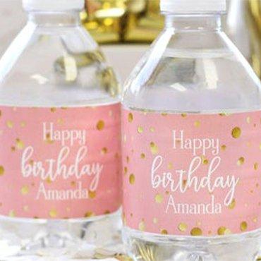 Birthday Water Bottle Label