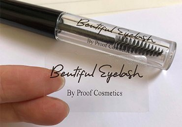 Clear Cosmetic Labels
