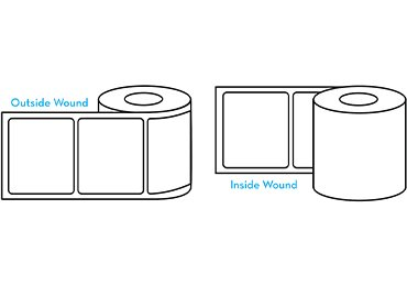 the roll direction for personalized beard oil labels on roll