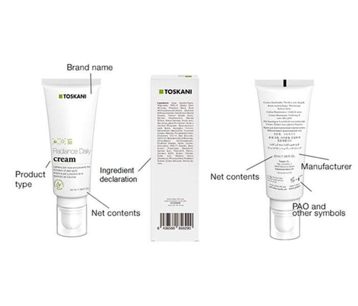 information on beauty labels