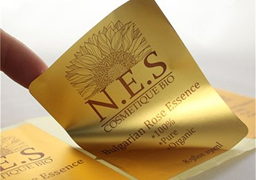 Gold Cosmetic Labels