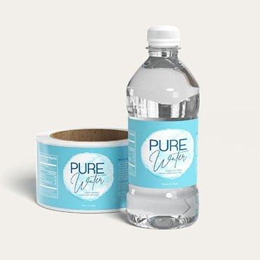 PVC Water Bottle Label
