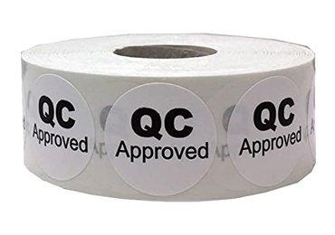 QC Pass Eggshell Stickers