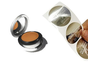 Silver Cosmetic Labels