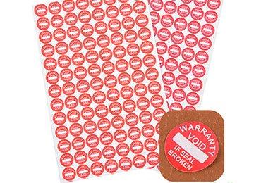 Warranty Eggshell Stickers