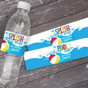 Wrappers Water Bottle Labels
