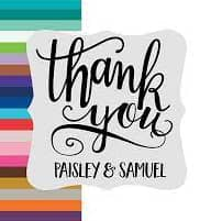 Personalized Thank You Stickers