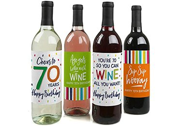 Drink labels for occasions