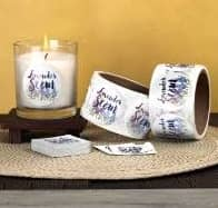 roll candle labels