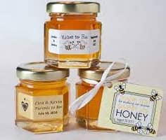 honey label with tag