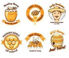 honey logo on labels
