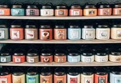 candle labels for business