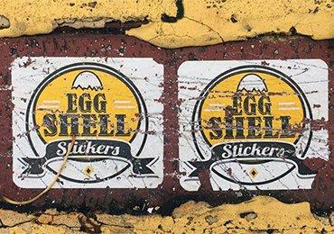 eggshell stickers