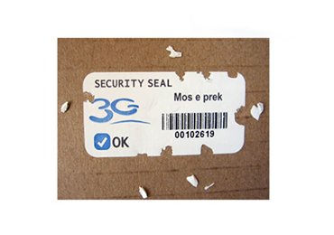 Security Seal Eggshell Stickers