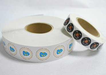 eggshell stickers on a roll
