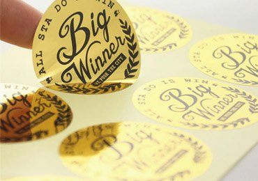 Gold Sticker Label